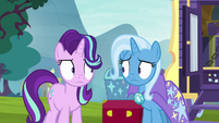 Starlight and Trixie look weirded out S8E19
