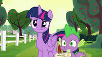 Twilight and Spike don't know what to do S6E22