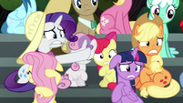 Crowd of ponies in shock S6E7