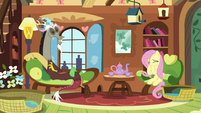 Discord and Fluttershy having a fun time S5E7