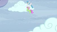 Merry May and White Lightning moving a cloud S5E5