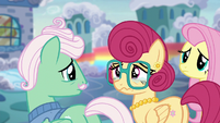 Mr. and Mrs. Shy looking sad S6E11