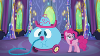 """Pinkie Pie """"exhausted"""" after cleaning up S7E1"""