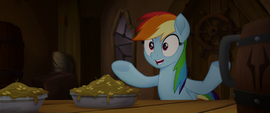 Rainbow Dash excited about pirates MLPTM