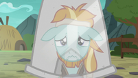 Rockhoof looking miserable at his reflection S7E16