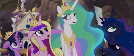The Alicorn princesses watch the invasion begin MLPTM