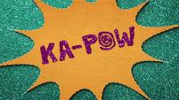 """""""KA-POW"""" text in felt BFHHS1"""