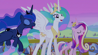 Celestia, Luna, and Cadance sing final chorus S4E25