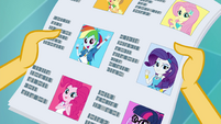 Mane Six in the Yearbook Superlatives EGFF