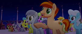 Ponies cheering for the Mane Six MLPTM