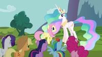 Princess Celestia talks to Fluttershy S03E10