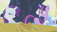 Rarity nudging Twilight aside S1E11