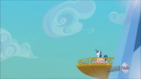 Shining Armor looking off from the balcony S3E2