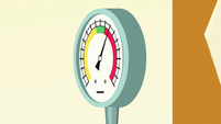 Steam gauge needle all the way up S6E10