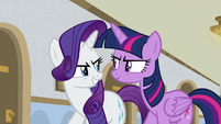Twilight and Rarity hatching a plan S8E16