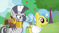 Zecora very surprised next to Dr. Fauna S9E18