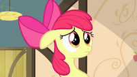 Apple Bloom with a sad expression S4E17