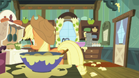 Applejack walks up to the oven S6E10
