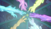 Crystal roots glowing bright S8E26