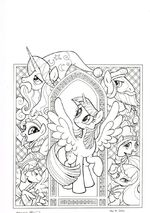 Legends of Magic issue 1 cover A uncolored