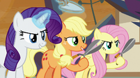 Rarity and AJ ready to fight for their families S9E2