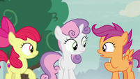Scootaloo -get herself into a scary situation- S7E8