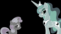 Sweetie Belle and Luna in inverted colors S4E19