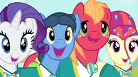 The Ponytones singing ending song S4E14