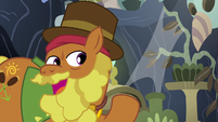 Cattail offers to show Twilight and Fluttershy the library S7E20