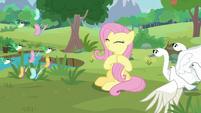 Fluttershy applauding her animal friends S9E26