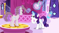 Pinkie Pie getting a makeover from Rarity S8E18