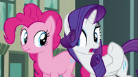 """Rarity in hushed tone """"what's the secret?"""" S6E3"""
