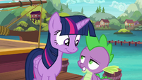 Spike --I hope this plan of yours works-- S6E22