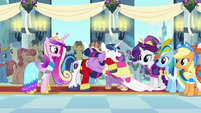 Twilight and Shining Armor laughing and hugging S03E13