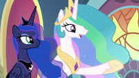 """Celestia """"can't think of anypony more worthy"""" S9E1"""