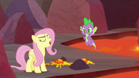 """Fluttershy """"Spike came all this way"""" S9E9"""