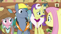 Fluttershy looks expectantly at expert ponies S7E5