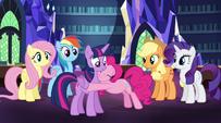 Pinkie Pie still hugging Twilight EG2