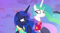 """Princess Luna """"at the same time?"""" S9E13"""