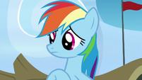 Rainbow Dash listening to Scootaloo S7E7