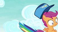 Scootaloo's hat flies off of her head S8E20