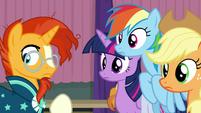 Twilight and friends hear Fluttershy S9E16