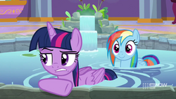 Twilight annoyed by interrupted alone time MLPCS4.png