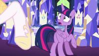 Twilight shocked by Celestia's laughter S7E1