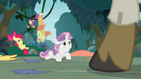 Apple Bloom and Sweetie Belle get caught S9E12