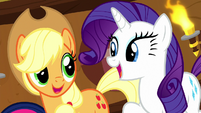 """Applejack and Rarity """"and a-two"""" S8E18"""