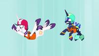 Celestia and Luna skydiving again S9E13