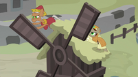 Hypnotized ponies breaking the windmill S7E26