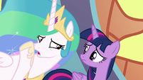 "Princess Celestia ""our world will be at war!"" S8E2"
