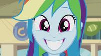 Rainbow Dash grinning widely EG2